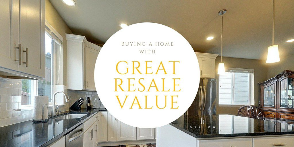 Kitchen with a circle that says Buying a home with great resale value