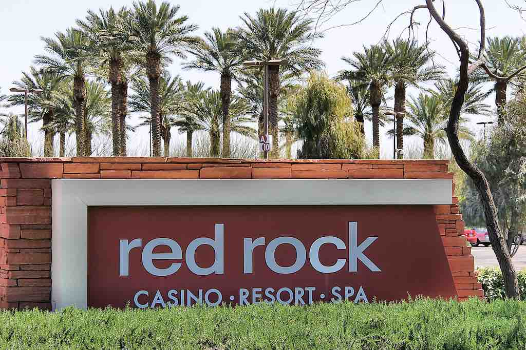 Sign at the entrance of Red Rock Casino in Summerlin Lsa Vegas