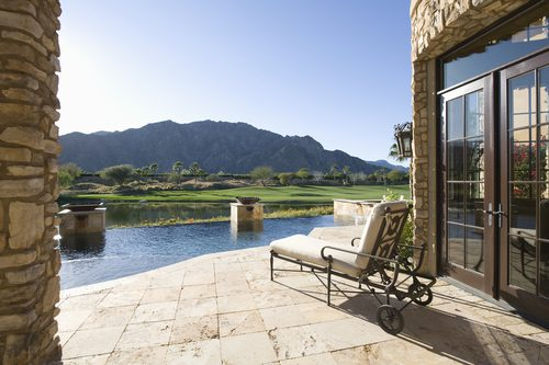 Red Rock Country Club House with pool, mountain views