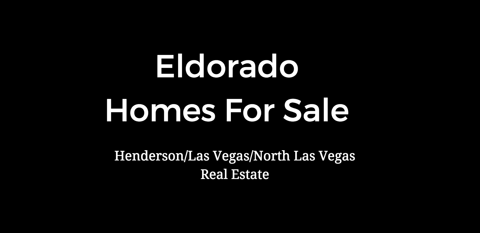 eldorado homes for sale las vegas nv