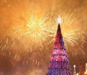Christmas Fireworks in Las Vegas