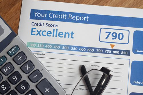Sample of an excellent credit report with 790 score for a loan