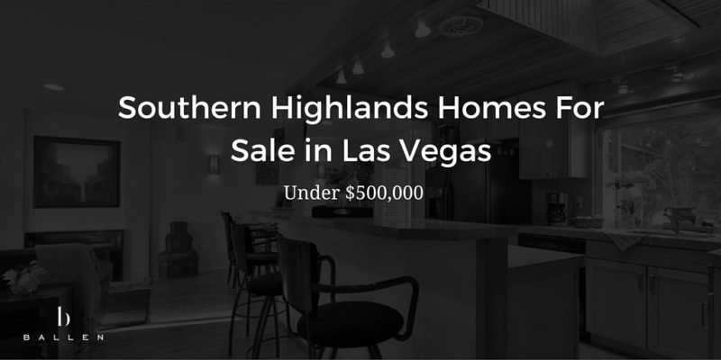 southern highlands homes for sale under 500 000 mls