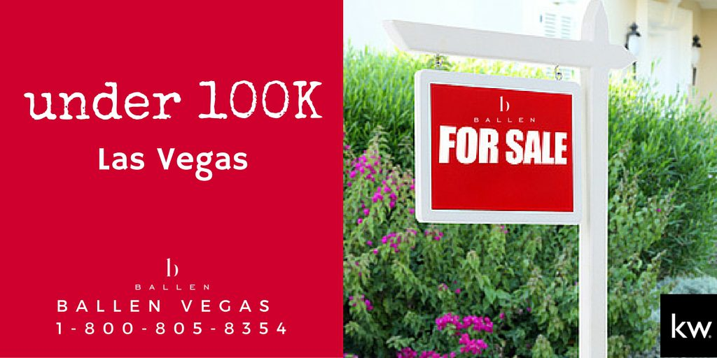 homes for sale in las vegas under 100k browse now