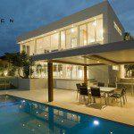 luxury patio with pool