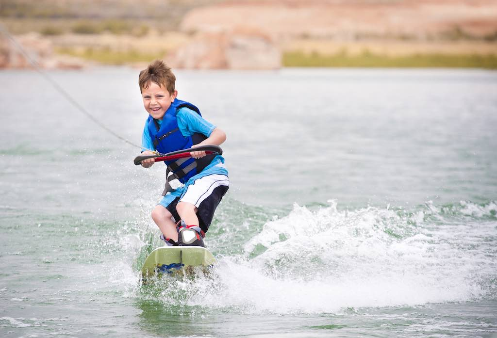 Child playing at Lake Mead Las Vegas Small