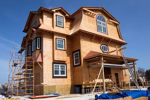 3 Story new home construction
