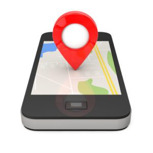 Pin on the Map on a cell phone