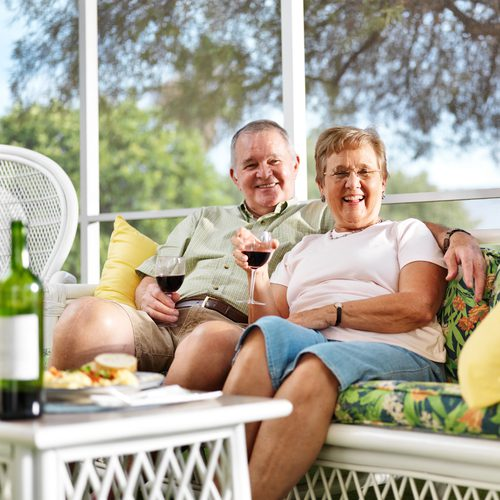 Couple Relaxing on the Porch in Sun City Las Vegas