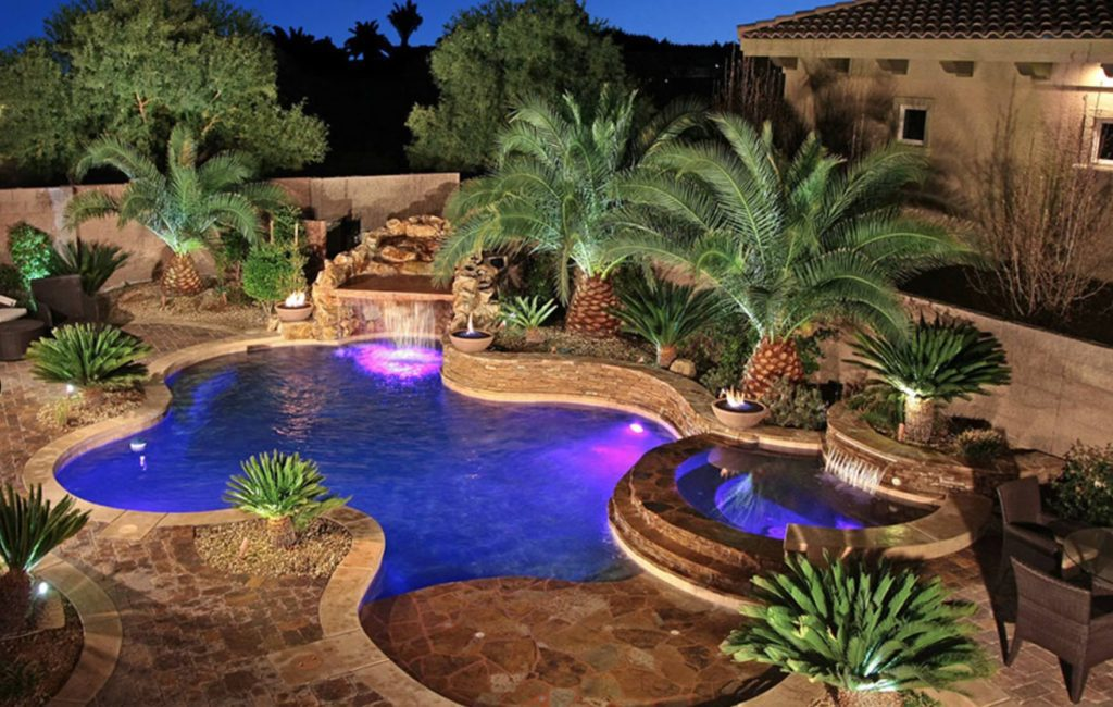 Beautiful pool built by Vintage Homes