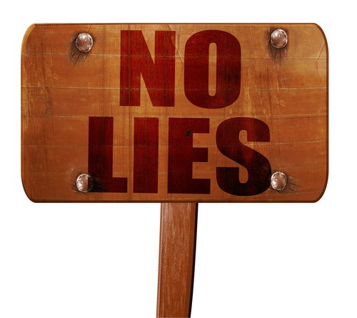 Don't tell lies when selling a house
