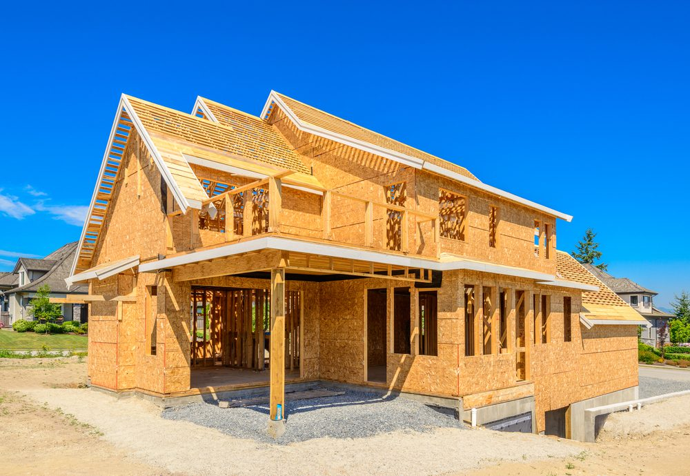 Construction on a new home is underway in Las Vegas