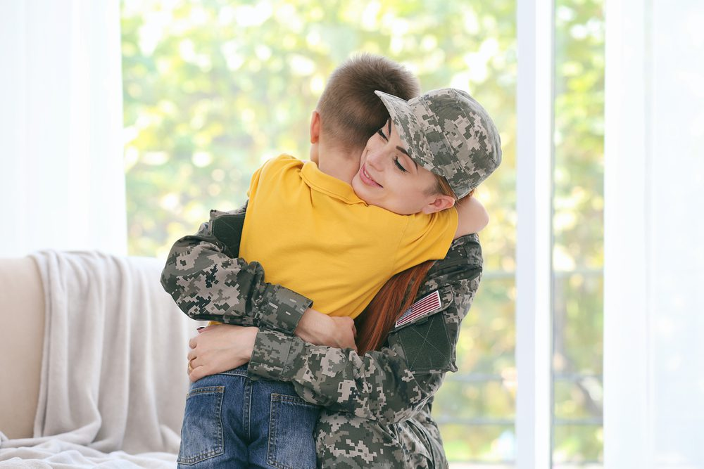 Home is possible for heroes woman and son