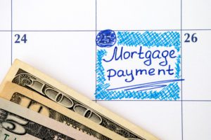 Calendar shows when a mortgage payment is due