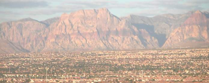 view of las vegas mountains