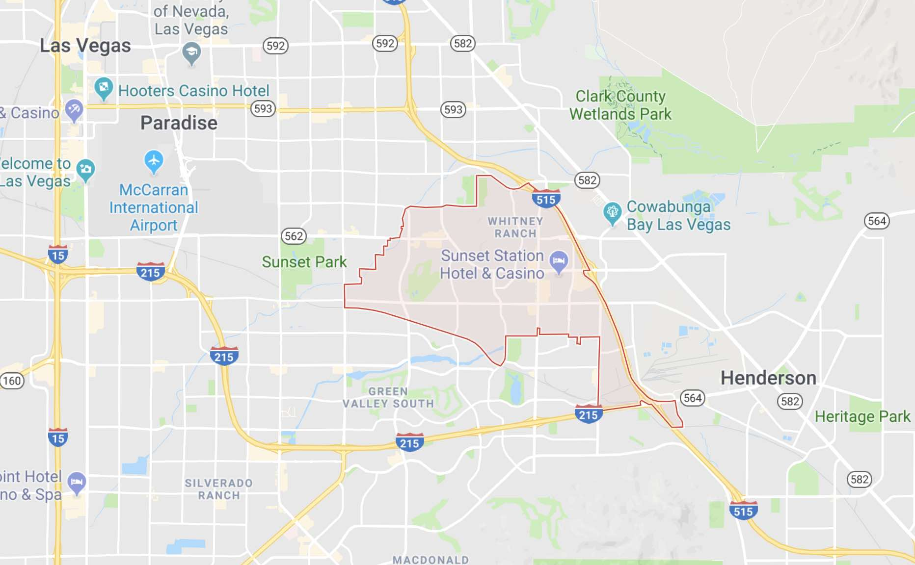 89014 zip code map is outlined on a city map