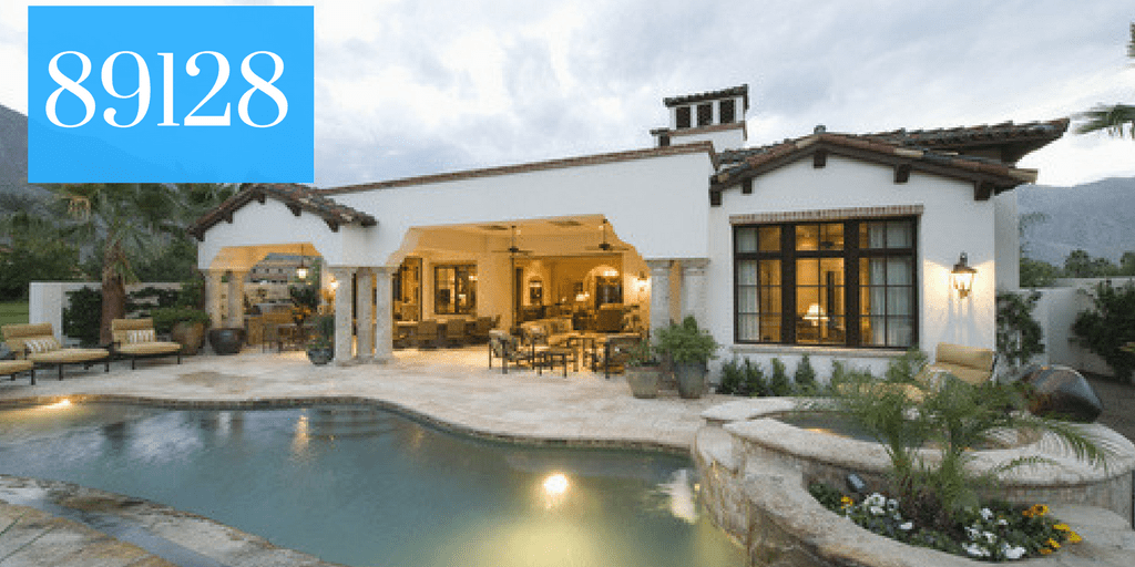 House with a pool and the zip code 89128