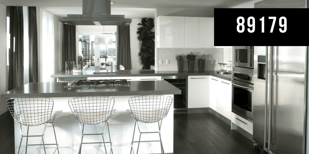 Beautiful Modern Kitchen, White and Grey, Reads 89179
