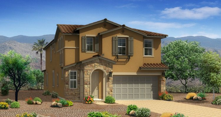 Bannock Model Home by Woodside Homes at Teton Falls in Skye Canyon