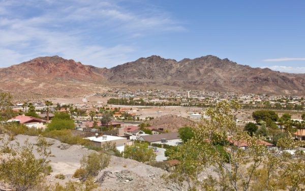 mountains are in view and top of houses in Boulder City, Nevada