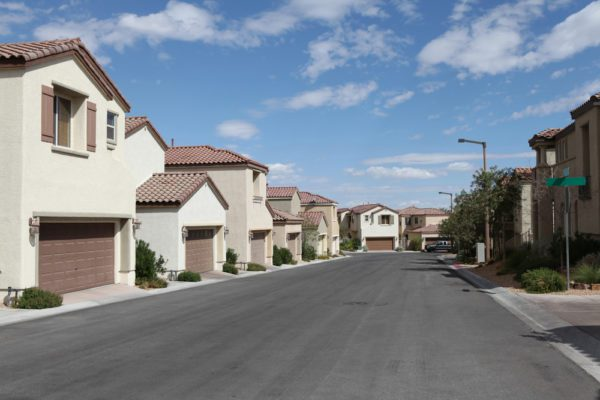 Neighborhood with houses close to each other in North Las Vegas
