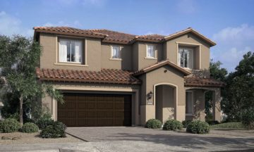 Model Home at Skye Canyon called Monza and built by Pulte Homes