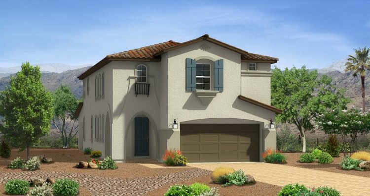 Model Home Mystic Plan by Woodside Homes at Teton Falls in Skye Canyon