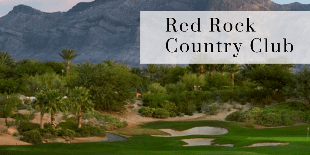 Golf Course at Red Rock Country Club, Beautiful Red Rock Mountain Views, Desert Landscape, Reads Red Rock Country Club
