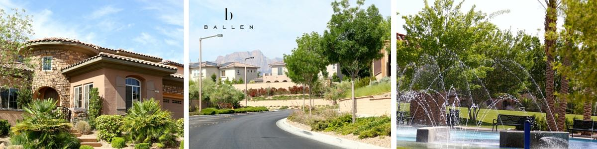 The Paseos Village Entrace in Summerlin Las Vegas, a house, a park with water feature