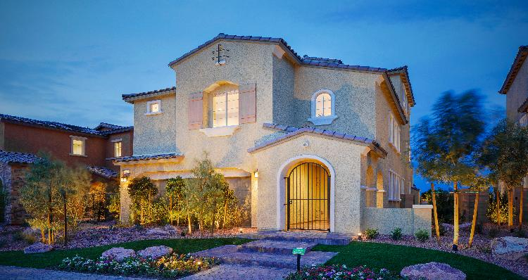 Yosemite Model by Woodside homes at teton falls in skye canyon