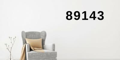 89143 is on a wall with a chair, seems to be a living room area