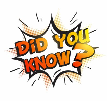 Did you know is orange with a question mark popping out of page. Indicating did you know about these real estate facts?