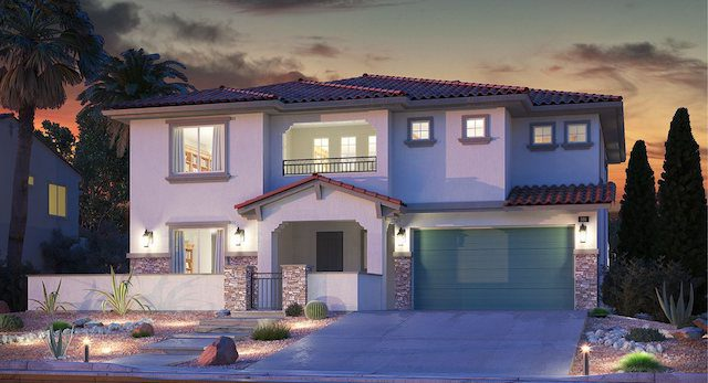 "Lennar Homes Model Home called ""The Dune"" at Delano in Summerlin"