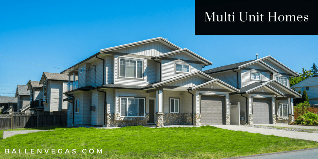 Multi Unit Building, duplex and fourplex