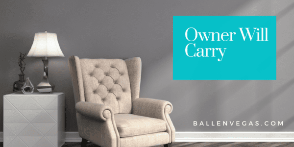 Chair and lamp, wall says owner will carry