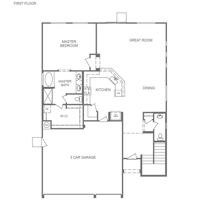 DR Horton Model Floorplan 3180