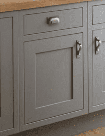 Barn Door Style Cabinets with back plates