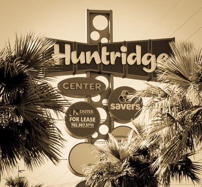 The Huntridge Shopping Center in the Huntridge neighborhood in the 89104 zip code in Las Vegas