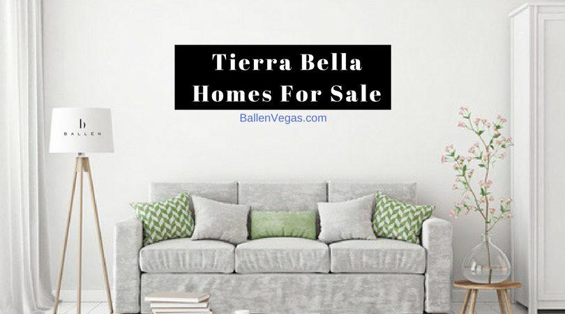 Tierra Bella Homes For Sale in Summerlin