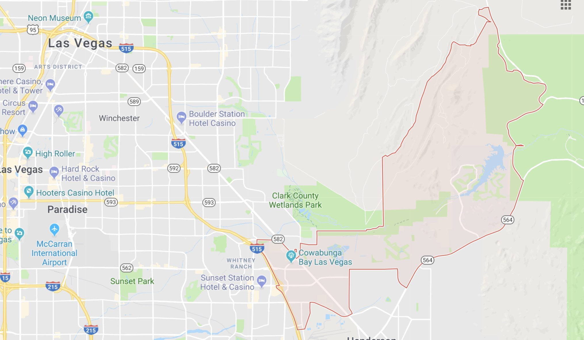 89011 East Las Vegas Zip Code Map