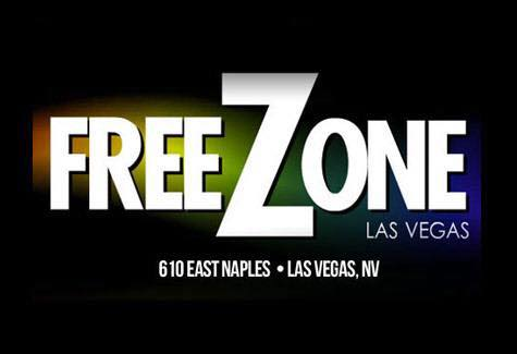 Logo for FreeZone LGBT club with Karaoke in Las Vegas