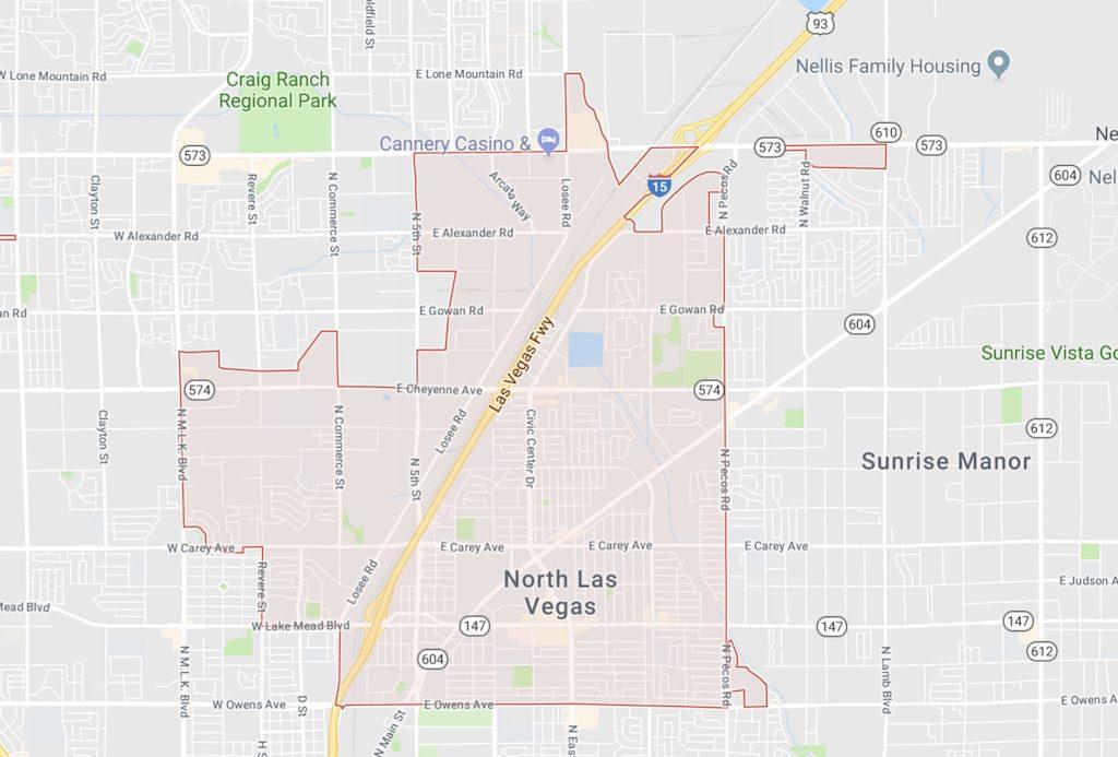 89030 Zip Code Map - North Las Vegas also MLS East