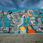 Art created by an artist in the Las Vegas Arts District downtown Las Vegas