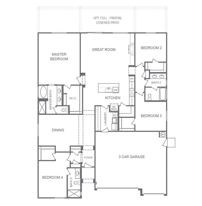 Floorplan of the 243p at Monarch Manor in Las Vegas