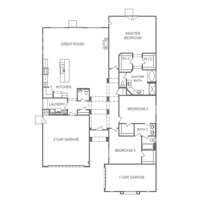 Monarch Manor Floorplan of the 2530 Model