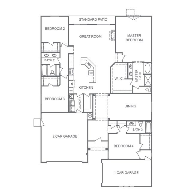 The 2630 floorplan at Monarch Manor in Lone Mountain