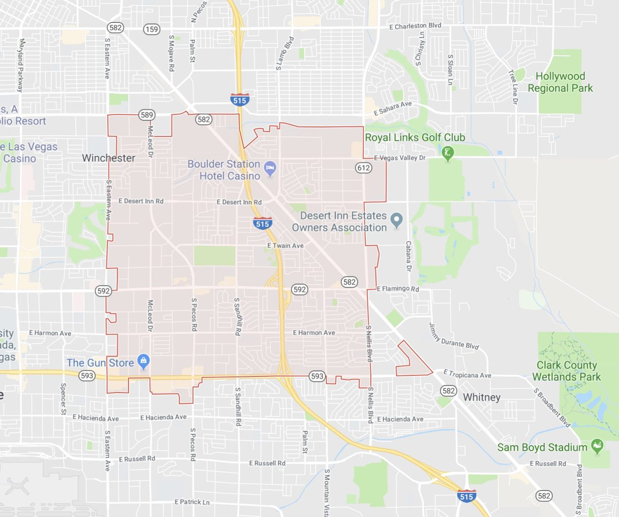 89121 Las Vegas Zip Code Map