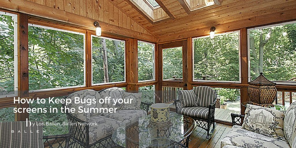 A beautiful enclosed patio in a forest area or area with plenty of trees