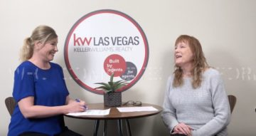 Krista Porter is sitting at a table with Kandi Doyle, Broker of Keller Williams Realty Las Vegas as they discuss the sellers real property disclosure