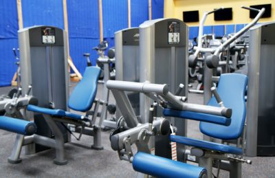 Cardio machines in a gym
